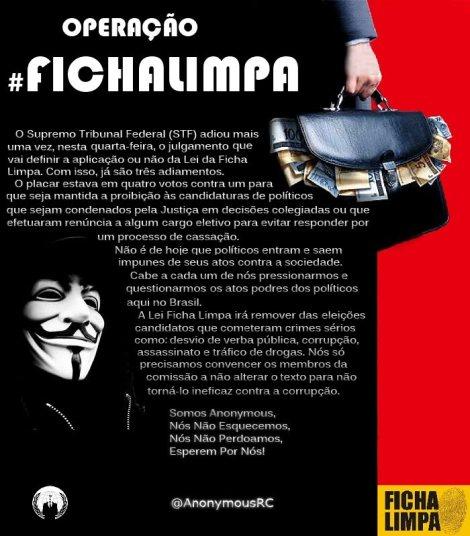 #OpFichaLimpa