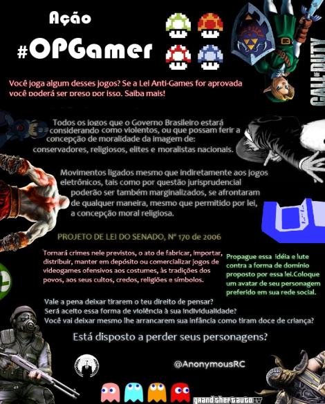 #OpGamer